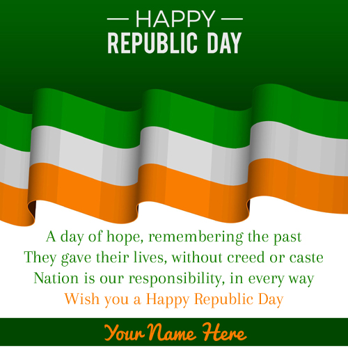 Beautiful Greeting For Republic Day With Company Name