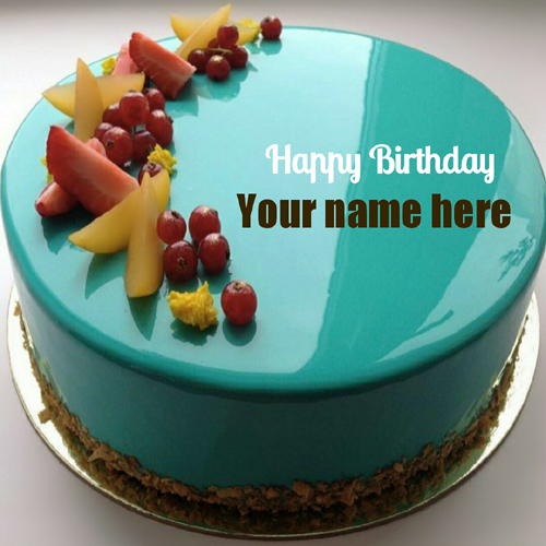 Images Of Cake With Wishes : Write name on birthday cake and greeting card online