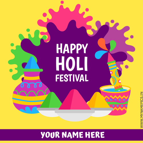 Happy Holi Whatsapp Status Profile Picture With Name