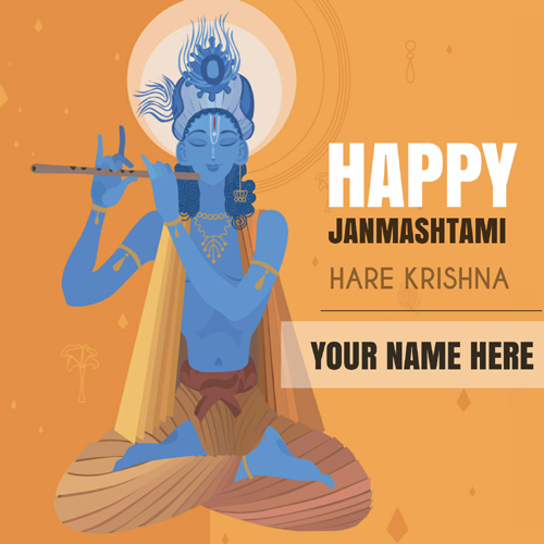 Happy Janmashtami Wishes Whatsapp Greeting With Name