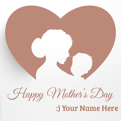 Happy Mothers Day Love Greeting With Your Name