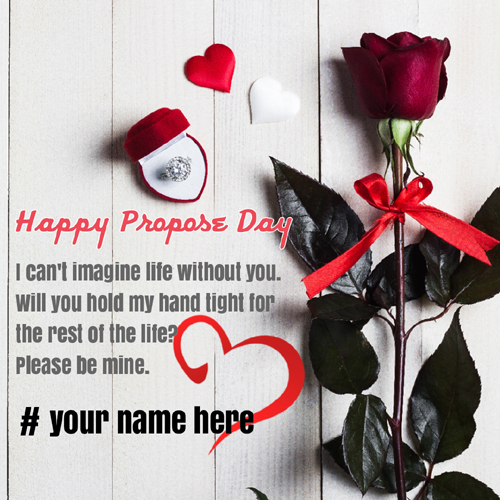 Happy Propose Day 2020 Love Greeting With Name