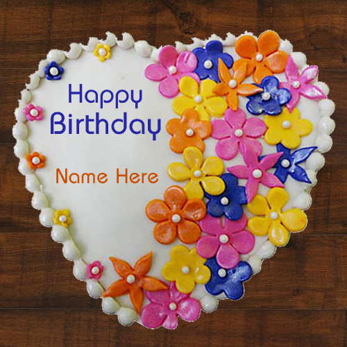 Happy Birthday Designer Cake With Your Nick Name