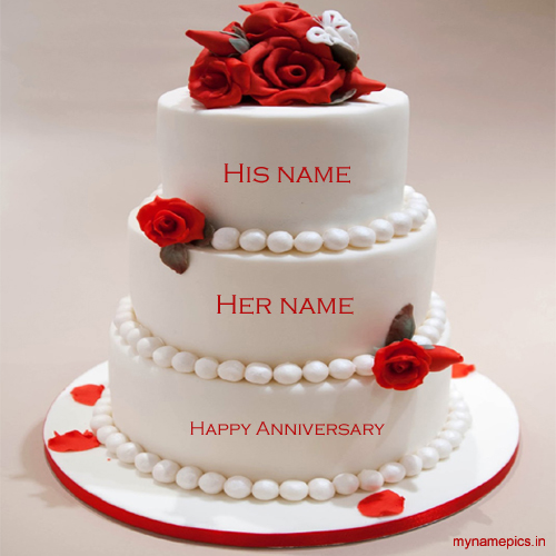 Write name on anniversary cake and send it to friends