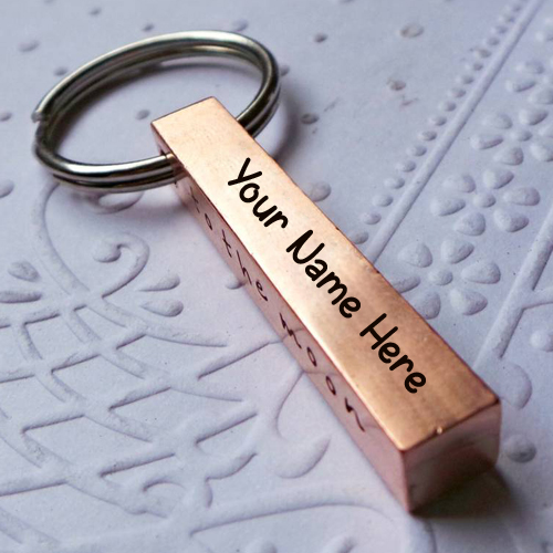 Personalised Copper Bar Keyring With Your Name