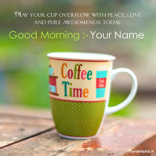 Write name on good morning images online