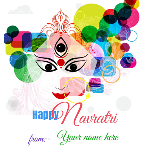 Happy Navratri Wishes Whatsapp DP Pics With Your Name