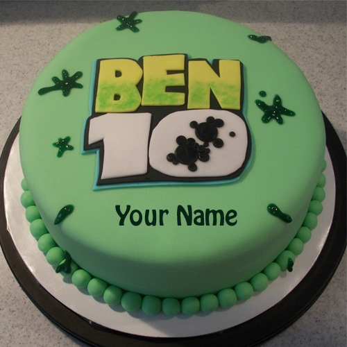 Ben 10 Birthday Wishes Cake With Your Name