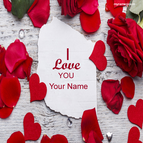 Write lover name on i love you rose profile pix