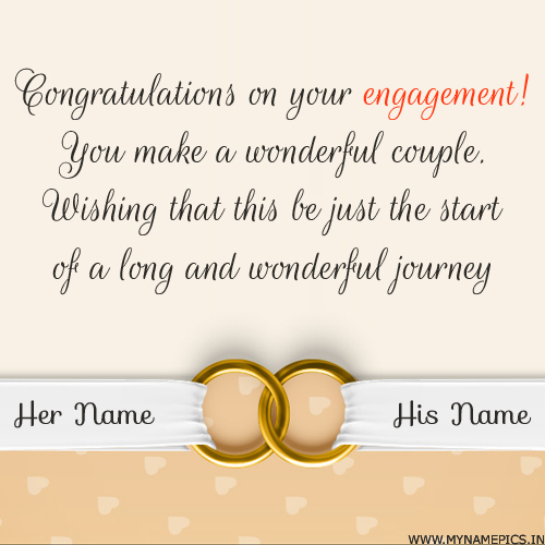 Write name on engagement wish greeting card pics congratulations on engagement wishes greeting with name m4hsunfo