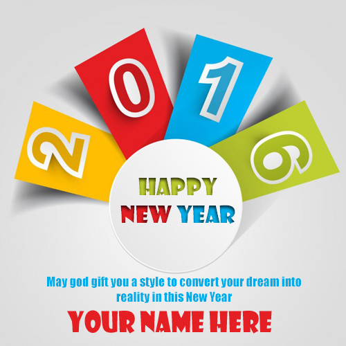 Write name on happy new year 2016 profile pics