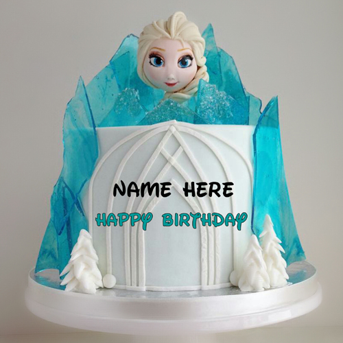 Happy Birthday Cute Barbie Doll Cake With Your Name