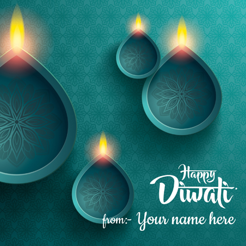Write Name on Shubh Deepavali Festival Wishes Greeting
