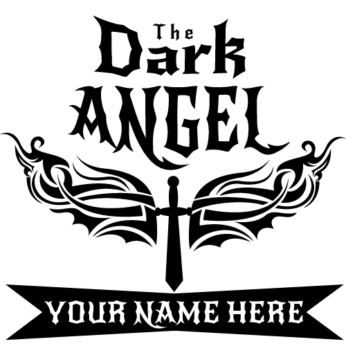 The dark angel girl tattoo with your name on it