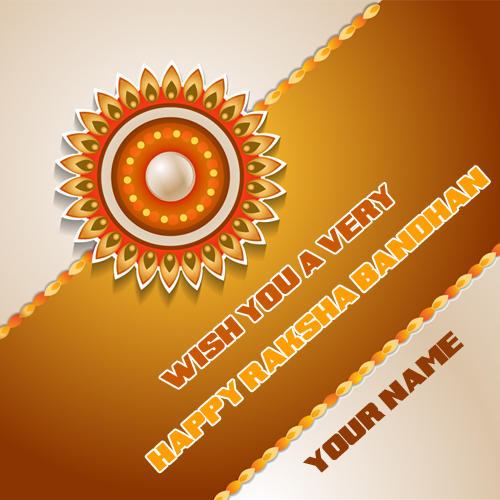 Wish You Very Happy Raksha Bandhan Wish Card With Name