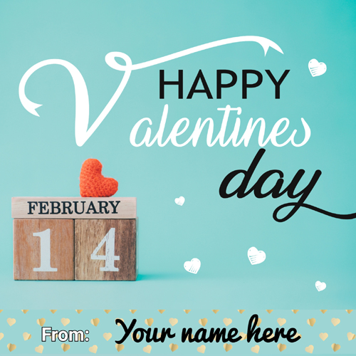 Happy Valentines Day 14th Feb Wishes Greeting With Name
