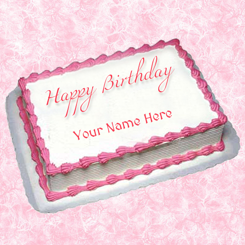 Write Your Custom Name on Cake For Girlfrined
