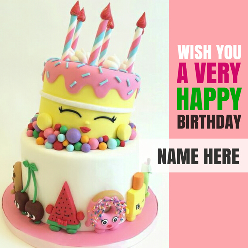 Wish You a Very Happy Birthday Greeting Card With Name