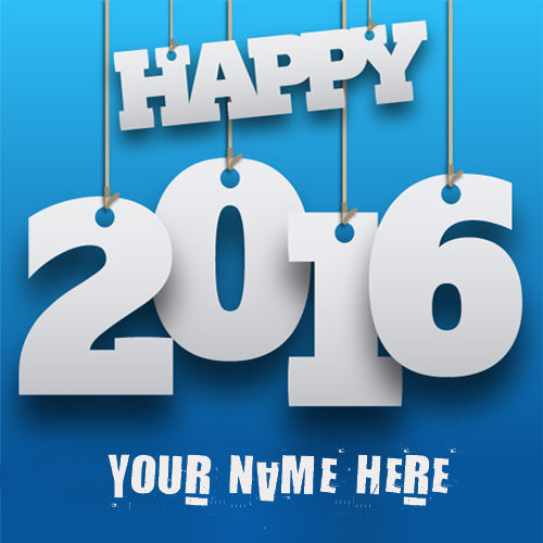 Write your name on happy 2016 Wishes profile picture