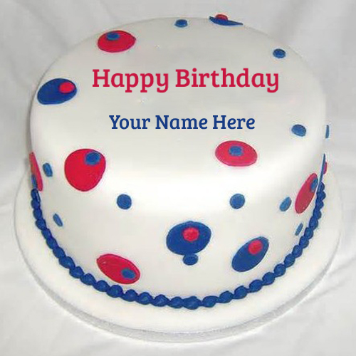 Beautiful White Chocolate Birthday Cake With Your Name