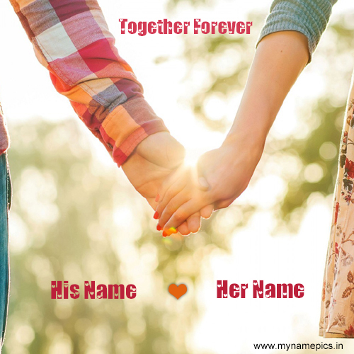 Write a Name on Love Greeting card online