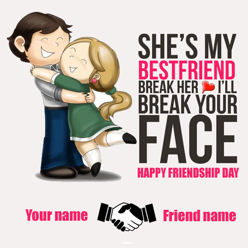 Write your name on girl and boy friend profile picture