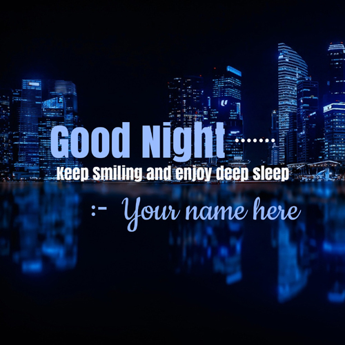 Good Night Wishes Motivational Greeting Card With Name