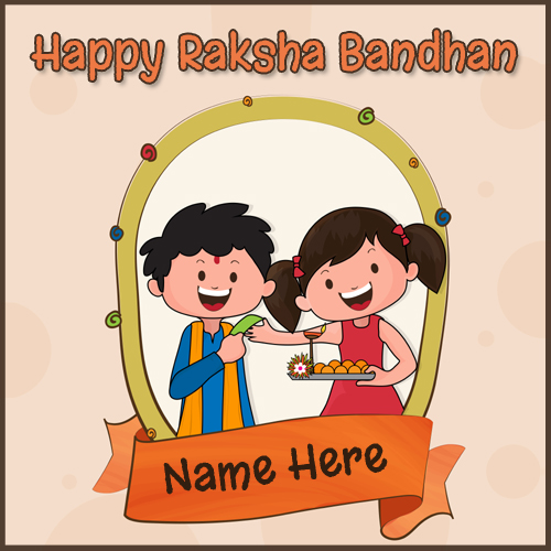 Happy Raksha Bandhan Brother Sister Love Name Greeting