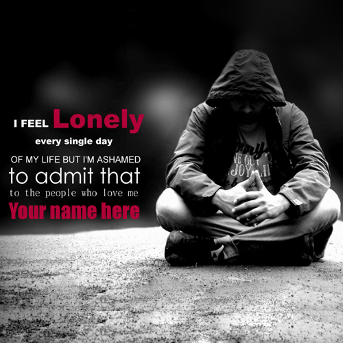 Feeling Lonely Boy Quotes Greeting With Your Name - 500x500 - jpeg Quotes About Friendship Cover Photos