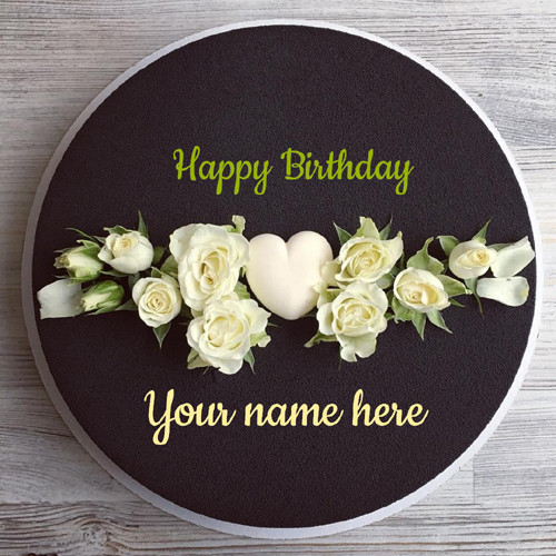 Beautiful Black Currant Birthday Wishes Cake With Name
