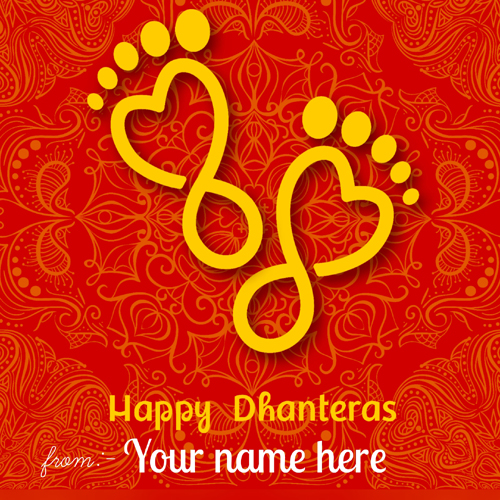 Shubh Dhanteras Wishes Whatsapp Greeting Card With Name
