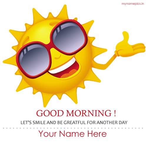 write name on good morning sun profile pic