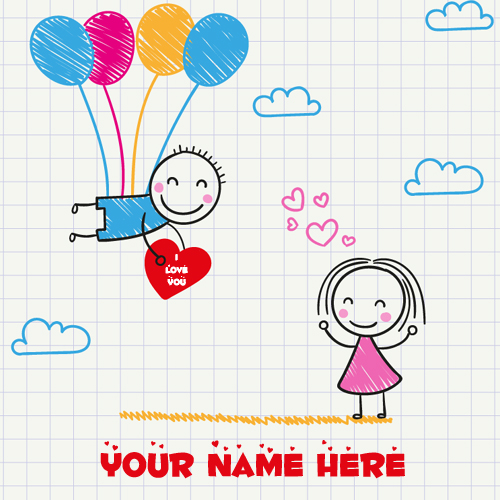 Romantic Love Couple Greeting For Whatsapp With Name