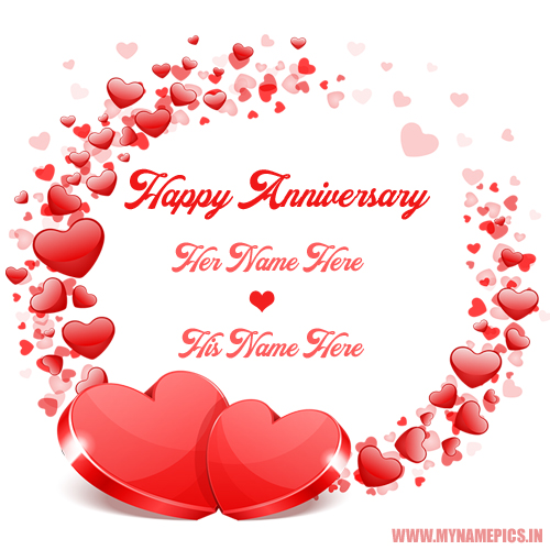 Happy Anniversary Wishes Romantic Greeting With Name