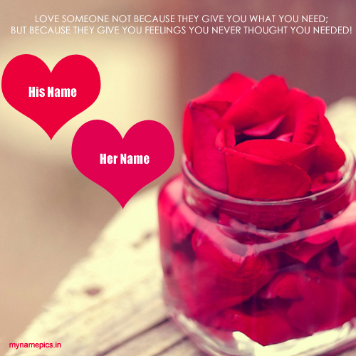 Write your name on  beautiful love profile picture