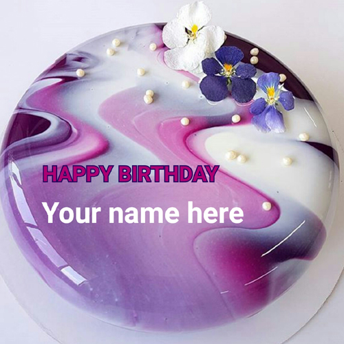 Russian Natural Ingredients Mirror Cake With Your Name