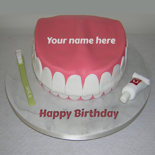 Birthday Cake For Dentist Doctor With Your Name