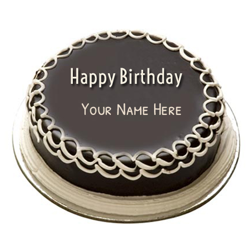 Customize Chocolate Birthday Cake With Your Name