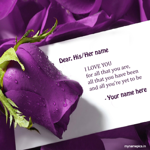 Write your name on Love Note profile picture