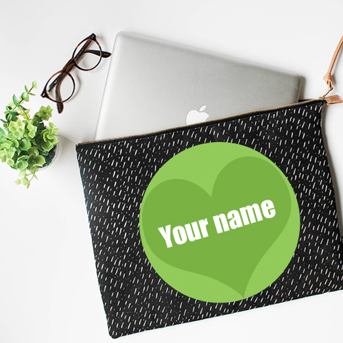 Write Name on Laptop Sleeve Cover For Profile Picture