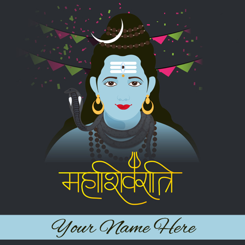 Maha Shivratri Wishes Whatsapp Greeting Card With Name