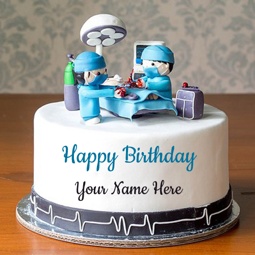 Doctor Birthday Wishes Special Cake Pic With Your Name