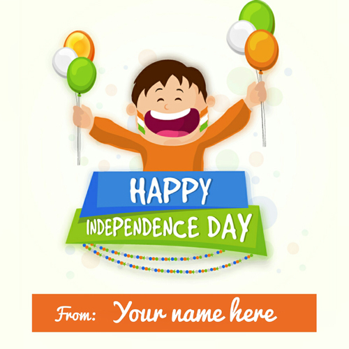Happy Independence Day Celebration Whatsapp Name Pics