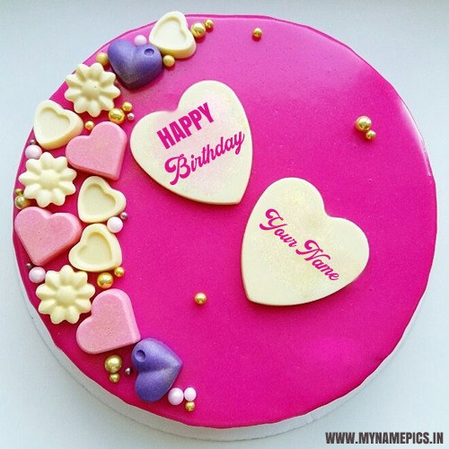 Make Happy Birthday Heart Cake With Your Lover Name