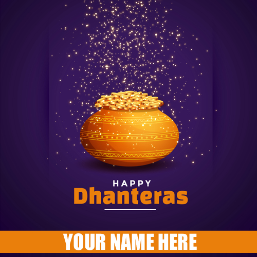 Shubh Dhanteras Diwali 2019 Festival Greeting With Name