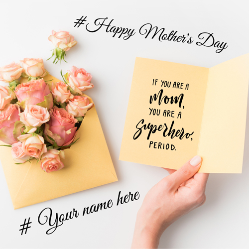 Mothers Day Wishes Love Note For Mother With Your Name