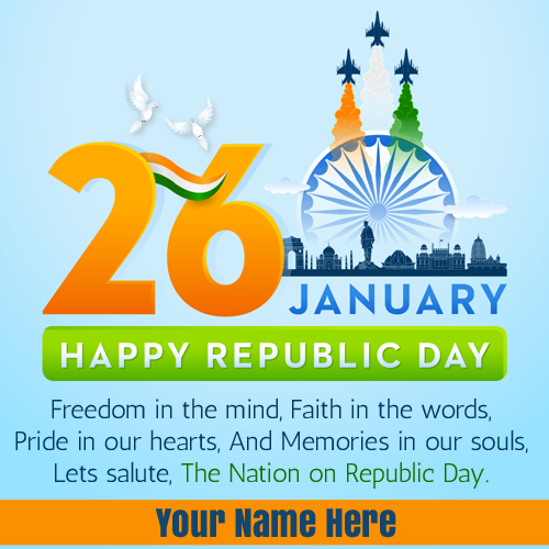 26th January Republic Day Whatsapp DP Pics With Name