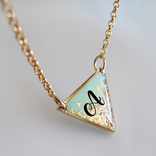 Print Custom Alphabet on Modern and Minimalist Jewelry