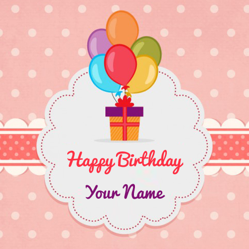 Vintage Birthday Wishes Card With Custom Name