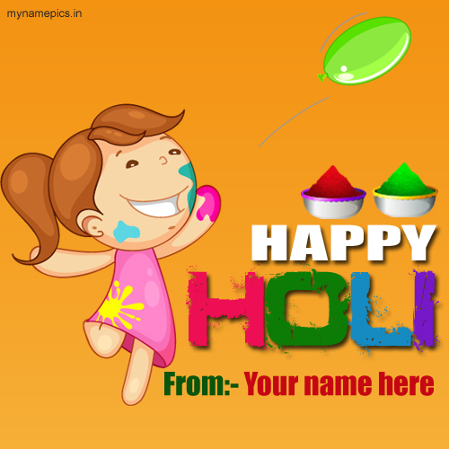 Write name on happy holi profile pics